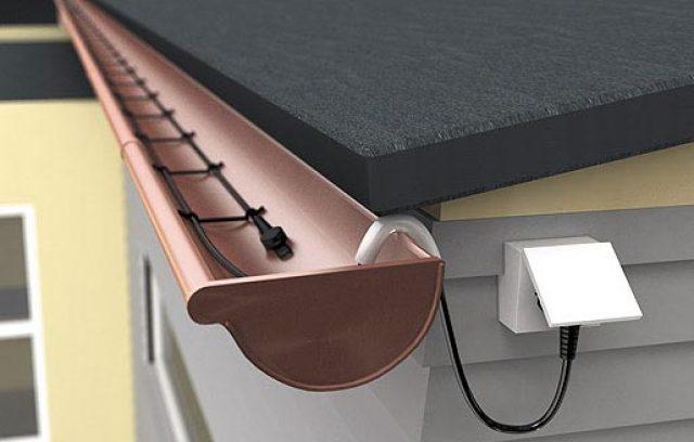Греющий кабель для обогрева желобов и водостоков